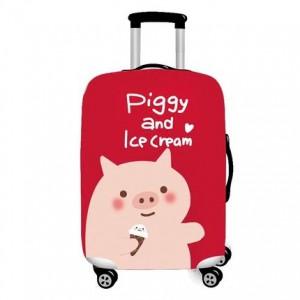 Чехол для чемодана арт.ЧЧ02,цвет: Свинка