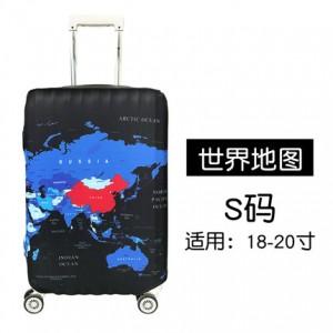 Чехол для чемодана арт.ЧЧ03,цвет: Карта мира