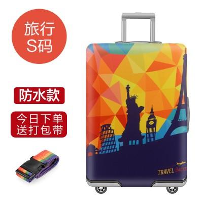 Чехол для чемодана арт.ЧЧ04,цвет: Путешествия