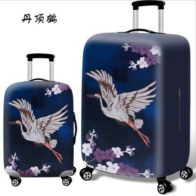 Чехол для чемодана арт.ЧЧ07,цвет:  Венценосный журавль