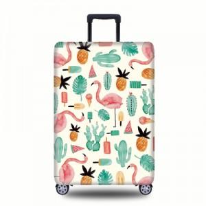 Чехол для чемодана арт.ЧЧ07,цвет:  Абстрактный Фламинго