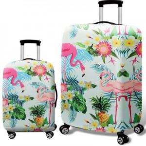 Чехол для чемодана арт.ЧЧ08,цвет: Цветочный Фламинго
