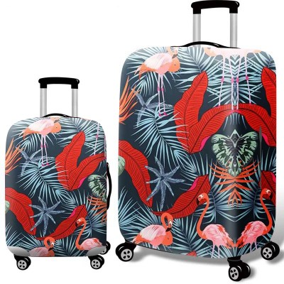 Чехол для чемодана арт.ЧЧ08,цвет: Банановый лист Фламинго
