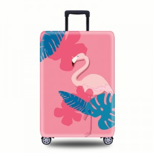 Чехол для чемодана арт.ЧЧ08,цвет: Розовый Фламинго