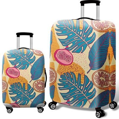 Чехол для чемодана арт.ЧЧ09,цвет: Тропический фрукт