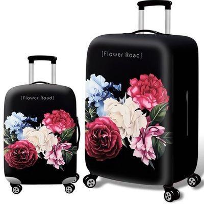 Чехол для чемодана арт.ЧЧ09,цвет: Цветочная дорога