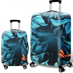 Чехол для чемодана арт.ЧЧ10,цвет: Глубокий тропический лес