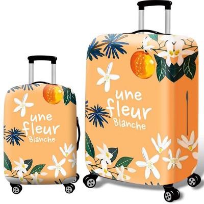 Чехол для чемодана арт.ЧЧ10,цвет: Оранжевый цветок
