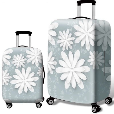 Чехол для чемодана арт.ЧЧ10,цвет: Белый цветок