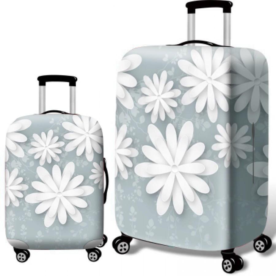 Чехол для чемодана арт.ЧЧ10,цвет: Тропические листья
