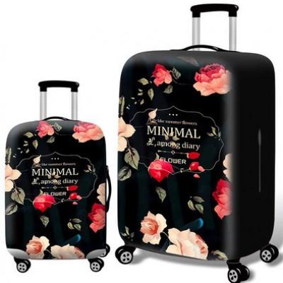 Чехол для чемодана арт.ЧЧ10,цвет: Красная Роза