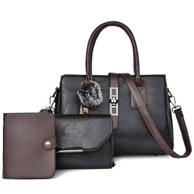 Набор сумок из 3 предметов,арт.А578,цвет: Черный