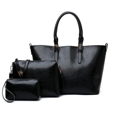 Набор сумок из 3 предметов арт.А 582,цвет: Черный