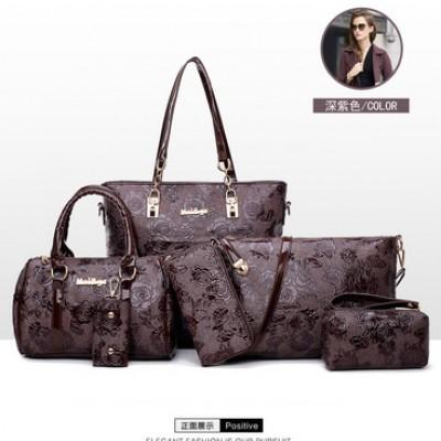 Набор сумок из 6 предметов арт.А584,цвет: Темно-Коричневый