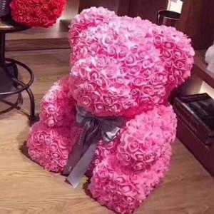 Мишка из роз арт.МР100,цвет:Симпатичный Розовый