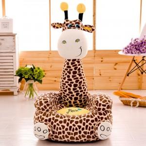 Кресло детское арт.ДМК02,цвет:Коричневый жираф №17