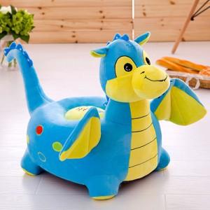 Кресло детское арт.ДМК02,цвет:Голубой дракоша №20