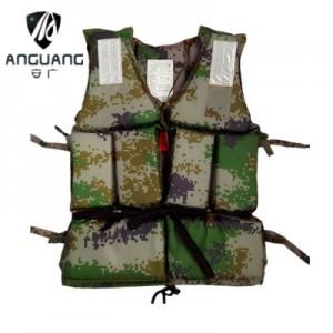 Взрослый спасательный жилет арт.СЖ05, Цифровой камуфляж на завязках