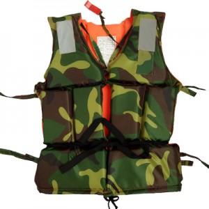 Взрослый спасательный жилет арт.СЖ05 Зеленый камуфляж