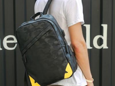 Мужской рюкзак арт.Р446,цвет: Черный Камуфляж