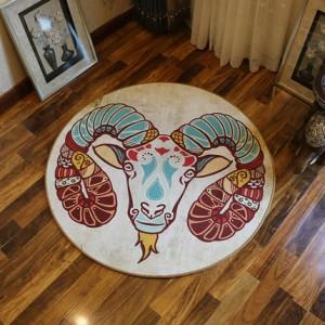 Ковер круглый арт.КВ36,Цвет: Козерог