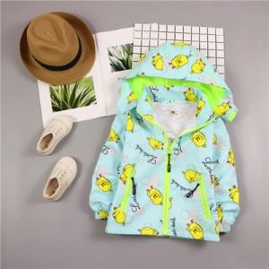 Детская куртка арт.КД075,цвет: Сине-зеленый,маленькая утка