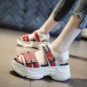 Женские сандалии арт.ОЖ376,цвет: Белый+Красный
