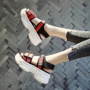 Женские сандалии арт.ОЖ376,цвет: Черный+Красный