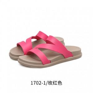Женские шлепки арт.ОЖ379,цвет: Розовый Красный