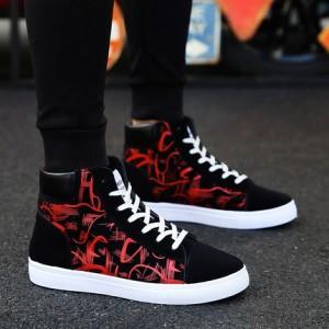 Мужские кроссовки арт.ОМ68,цвет: Черный красный