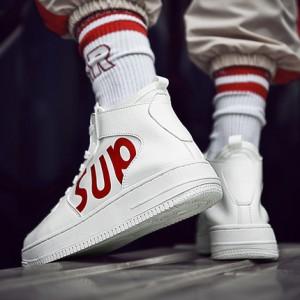 Мужские кроссовки арт.ОМ69,цвет: Белый красный