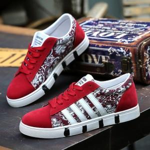 Мужские кроссовки арт.ОМ70,цвет: 965 Красный