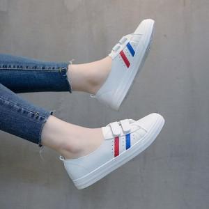 Кроссовки женские арт.ОЖ403,цвет: Белый+красный с синим