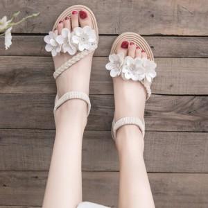 Женские сандалии арт.ОЖ405,цвет: Кремовый