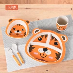 Набор детской посуды из 5 предметов арт. НД5,цвет: Желтый тигренок