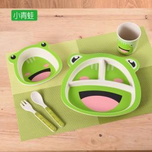 Набор детской посуды из 5 предметов арт. НД5,цвет: Зеленый лягушонок