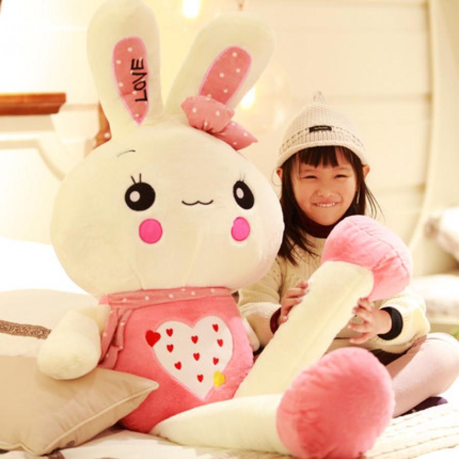 Мягкая игрушка арт.МИ12,цвет: Розовый подмигивающий кролик