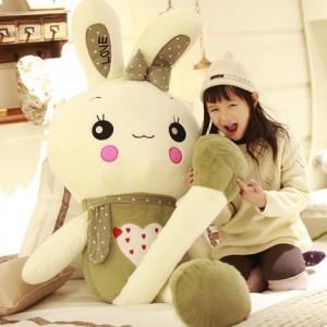 Мягкая игрушка арт.МИ12,цвет: Темно-зеленый подмигивающий кролик