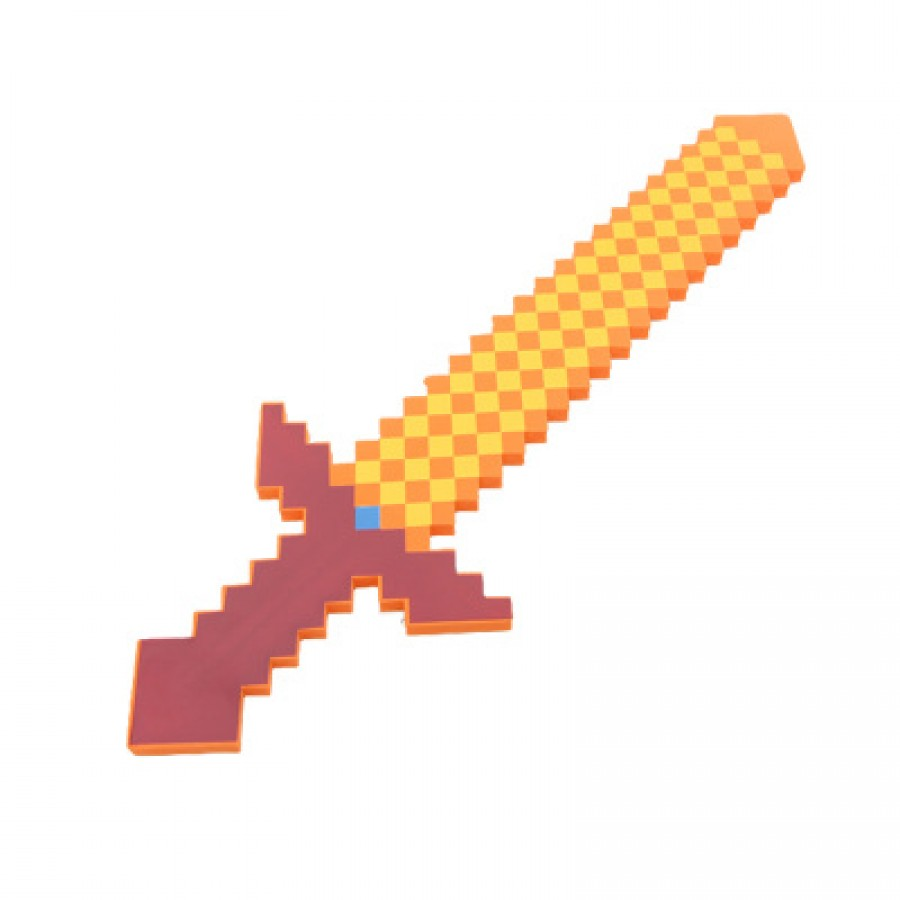 Игрушка MINECRAFT арт.ИГ14,цвет: Длинный оранжевый меч