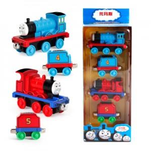 Набор паровозик Томас арт.ЖД19: 2 синих 2 красный