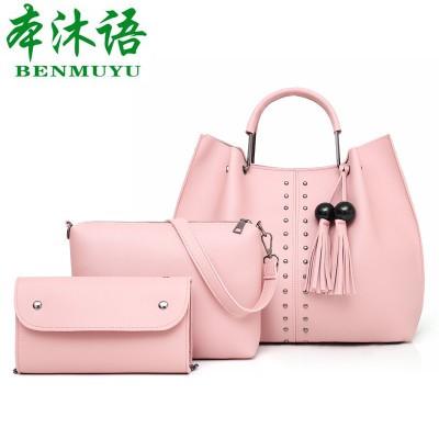 Набор сумок из 3 предметов арт.А560,цвет: Розовый