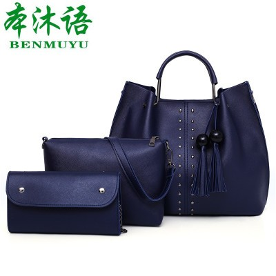 Набор сумок из 3 предметов арт.А560,цвет: Синий