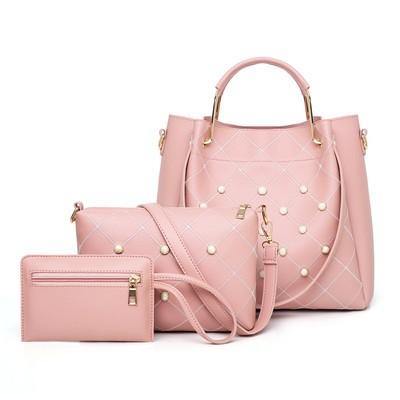 Набор сумок из 3 предметов арт.А561,цвет: Розовый