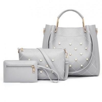 Набор сумок из 3 предметов арт.А561,цвет: Светло-Серый