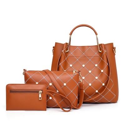Набор сумок из 3 предметов арт.А561,цвет: Светло-Коричневый