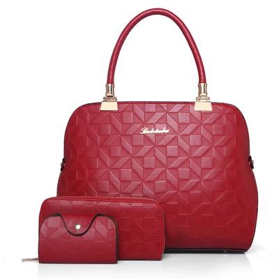 Набор сумок из 3 предметов арт.А564,цвет: Красный