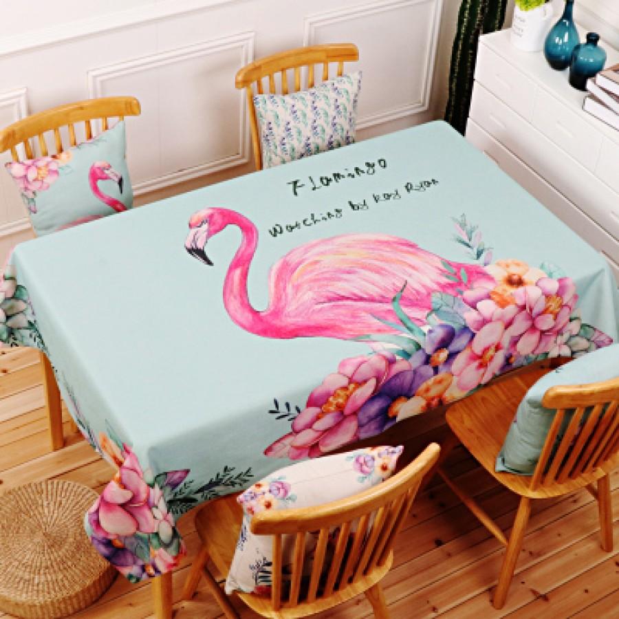 Скатерть хлопчатобумажная арт.СК01,цвет: Светло-зеленая Фламинго