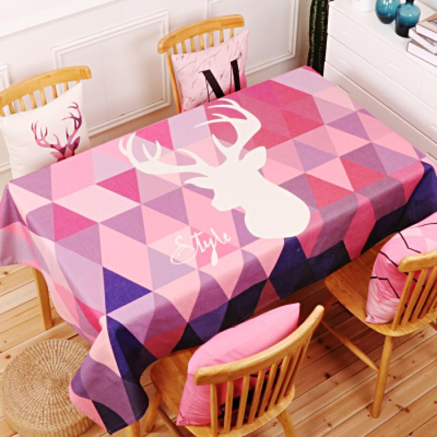 Скатерть хлопчатобумажная арт.СК01,цвет: Глубоко фиолетовый олень