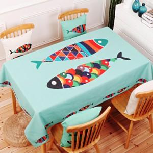 Скатерть хлопчатобумажная арт.СК01,цвет: Счастливая рыба