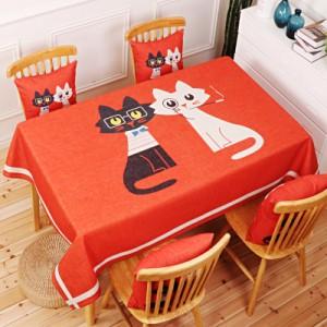 Скатерть хлопчатобумажная арт.СК01,цвет: Любовь Кошка